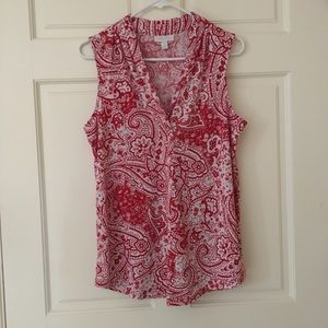 Charter Club (Size M) Sleeveless v-neck Womens Top